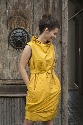 Picture of  Yellow silk dress Stella