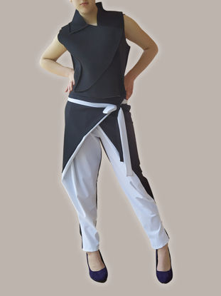 Picture of TROUSERS BILL BLACK/WHITE 2 in 1