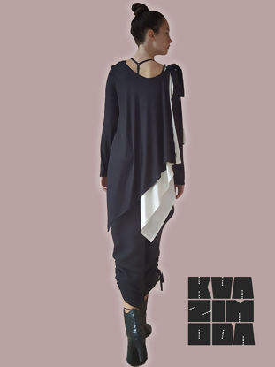 Picture of ELASTIC TUNIC DIDOUBLE IN TWO COLORS