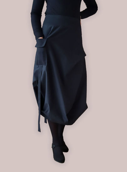 Picture of BLACK PEPITO PATTERN SKIRT  LALA