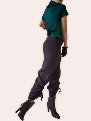 Picture of TROUSERS BILL BLACK VISCOSE